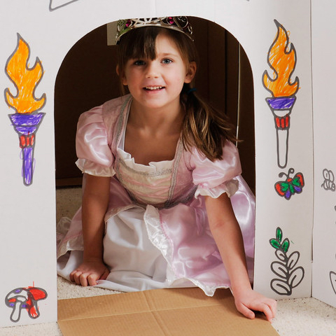 Castle Play Set for Kids to Decorate and Color