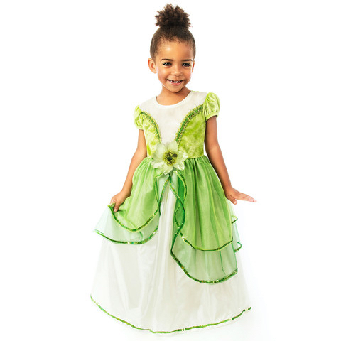 Princess Tiana Girl's Dress Frog Princess