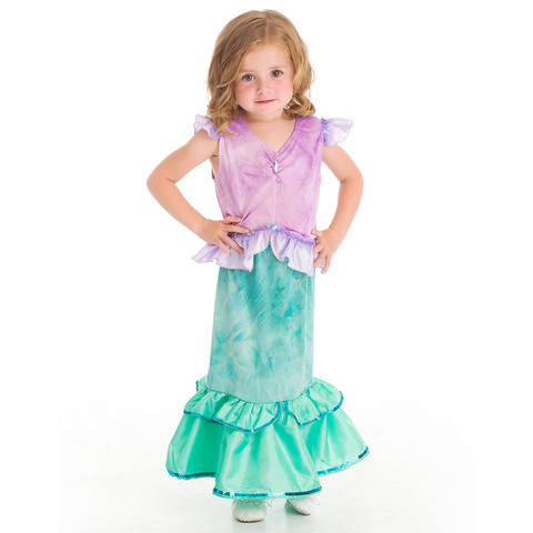 Little Mermaid Girls Costume Play Dress