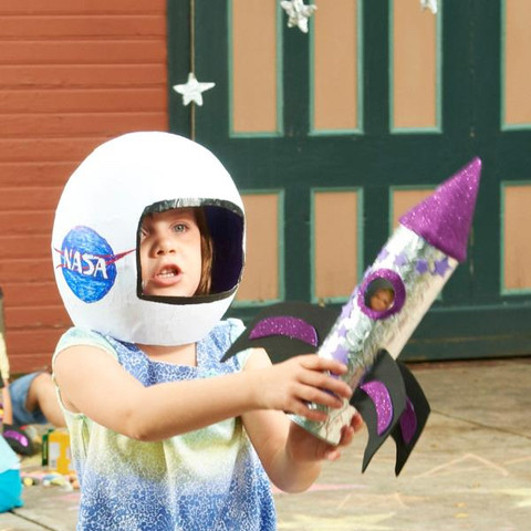 Toy Rocket Ship for Kids to Make DIY Craft