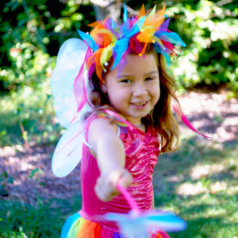 Colorful Girl's Fairy Costume for Playtime