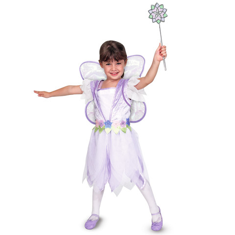 Winged Fairy Costume for Little Girls Playtime Wand