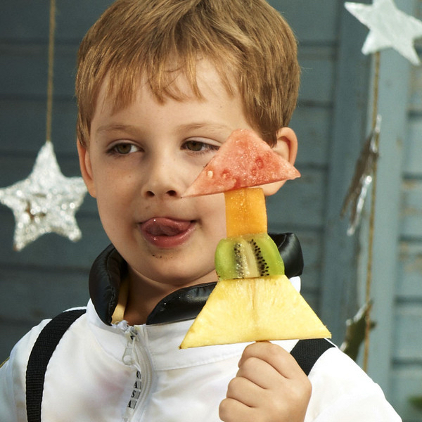 Kids Healthy Astronaut Recipe - Rocket Fruit
