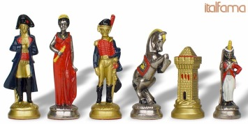 Metal Pieces Napoleon Historical Chess Sets