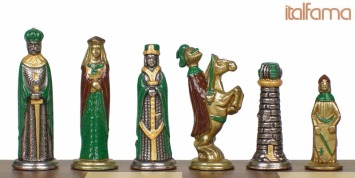 Historical Middle Ages Metal Chess Sets Pieces