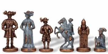 Metal Knights Pieces Historical Chess Sets
