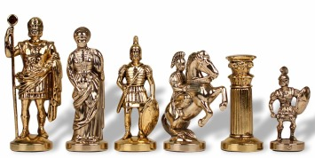 Roman History Chess Set Pieces Metal