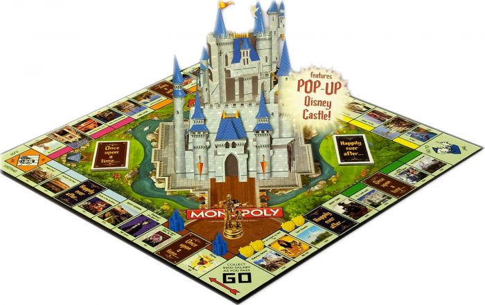 Monopoly with Disney Castle Board Game for Kids and Adults