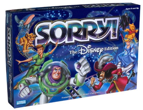 Disney Version of Sorry Game for Kids and Adults