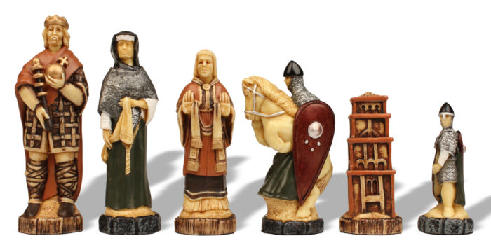 Full Color Historical Battle Chess Pieces