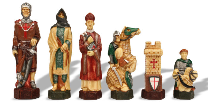 Colorful Chess Pieces - European Crusades