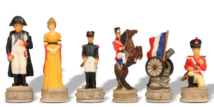 Battle of Waterloo Chess Pieces from History