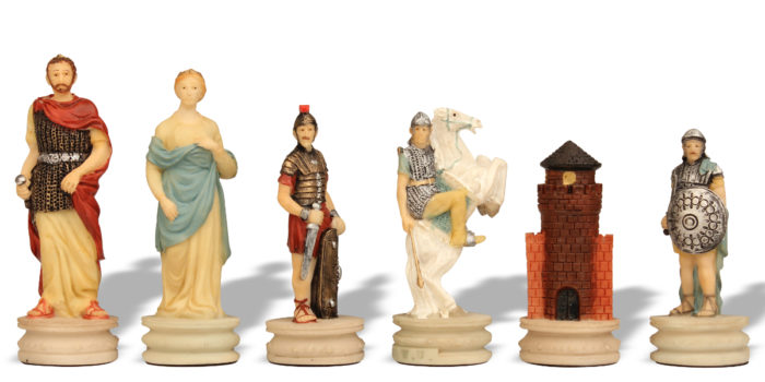 Rome vs Greece Historical Chess Piece Sets