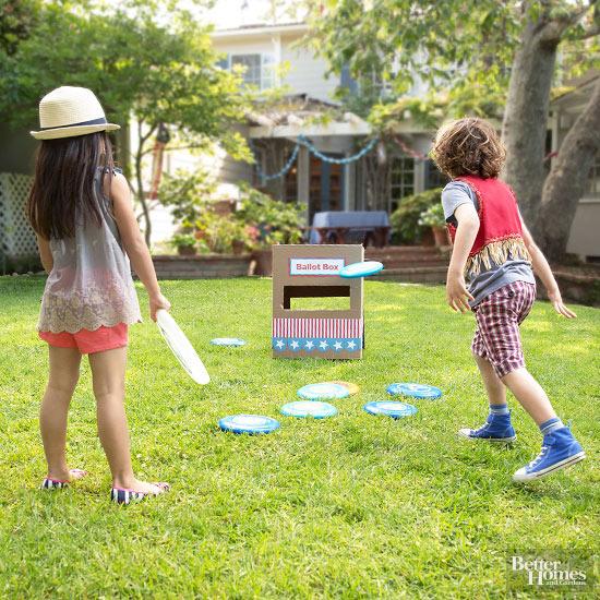 DIY Frisbee Target Toss Game