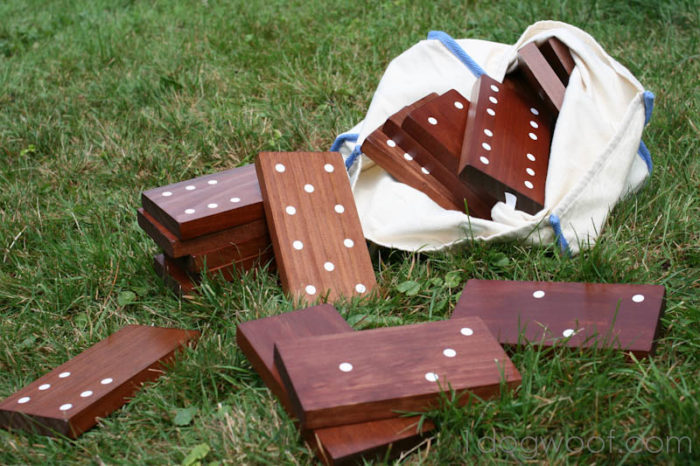 DIY Yard Domino Game for Outdoor Fun