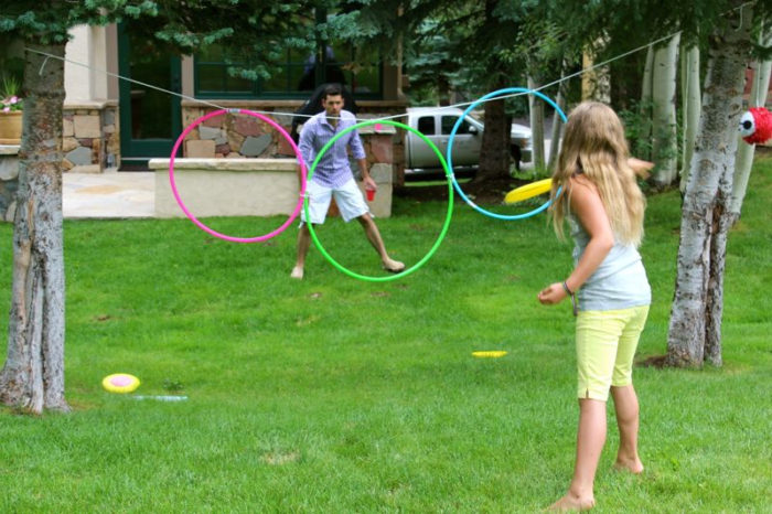 Hoola Hoop Target Toss Outdoor Party Game for Kids