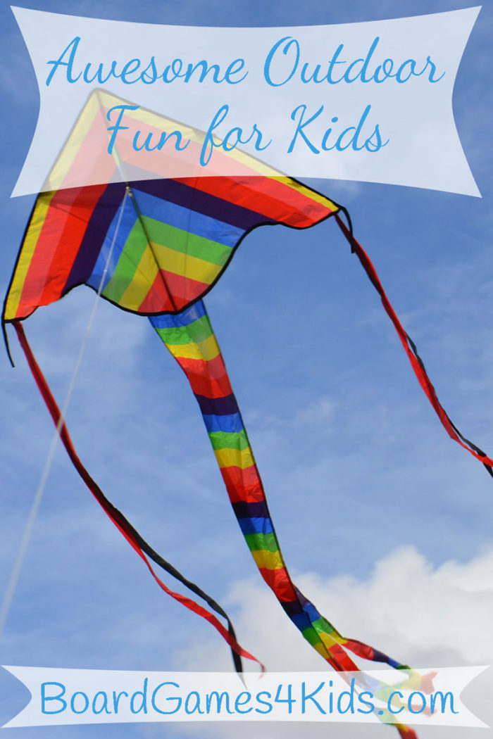 Let's go fly a kite - super awesome rainbow kite.
