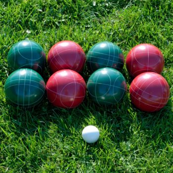 Bocce ball outdoor game for kids and grownups