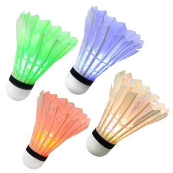 Colorful Nighttime Light up Birdies for Badminton
