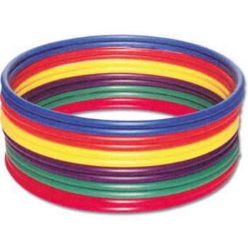 Sturdy rainbow hula hoop set - no kink.