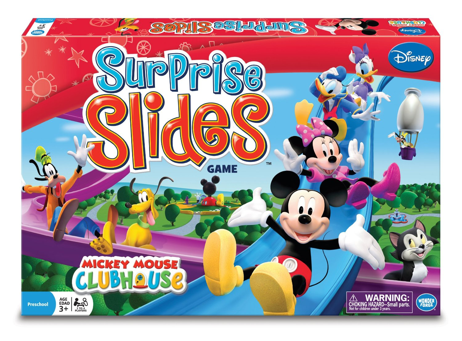 Surprise Slides Kids Mickey Mouse Board Game