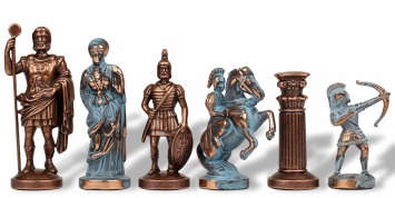 Archers Historical Metal Chess Pieces