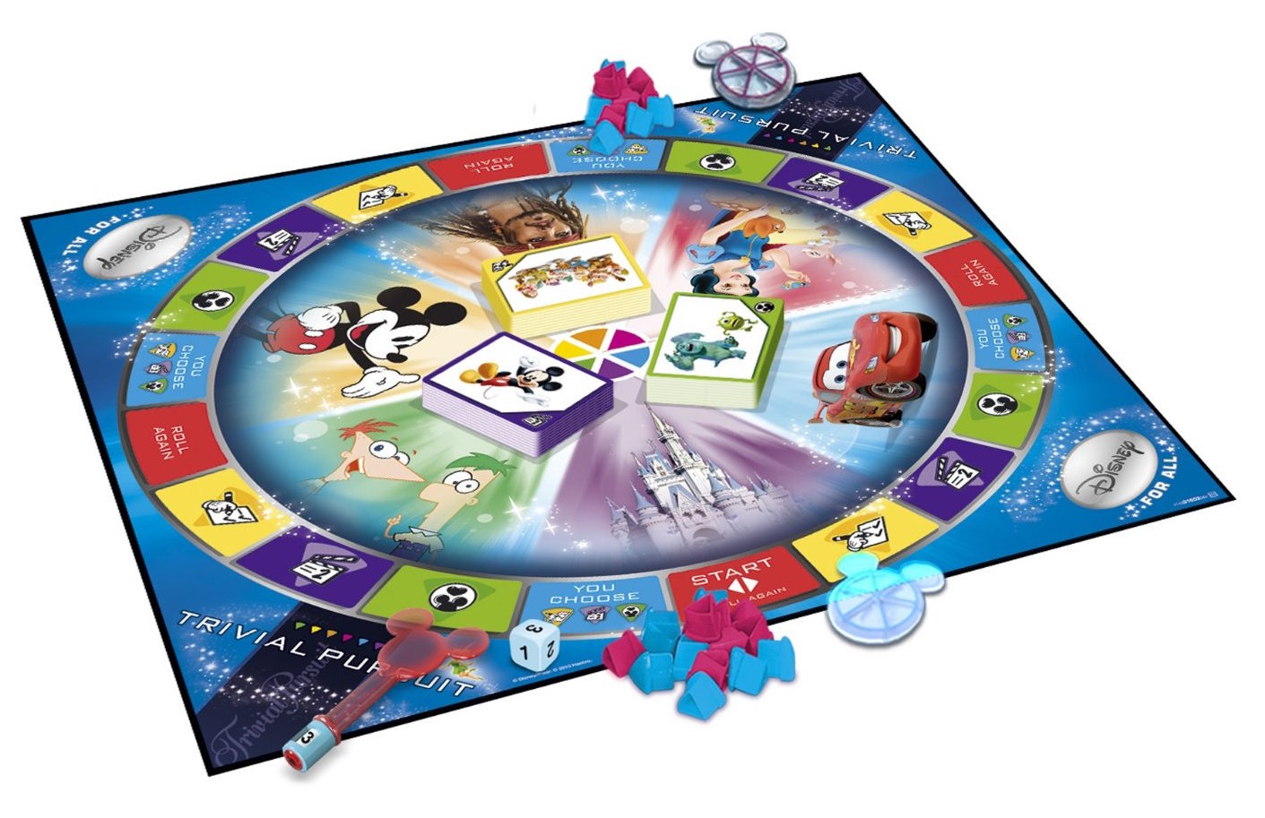 Family Trivia Game with Disney Characters