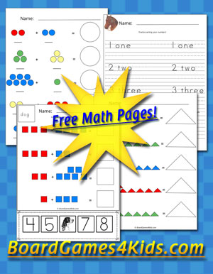 Download and Print Kids Addition Math Pages